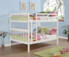 Carolina Full over Full Bunk Bed White | Donco Trading | DT123-3W