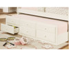 Sleigh Twin Size Captain's Trundle Bed White | 24877 | DT125W-CL