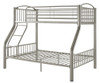 Heavy Metal Twin over Full Bunk Bed - Silver | 24935 | DT4512-3S