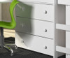 Donco Low Loft Bed with Desk and Storage Twin Size White | 24947 | DT760W