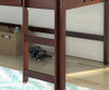 Circles Low Loft Bed Twin Size Cappuccino | 24948 | DT780ATCP