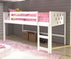 Circles Low Loft Bed Twin Size White | Donco Trading | DT780ATW
