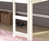 Circles Low Loft Bed Twin Size White | 24955 | DT780ATW