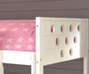 Circles Low Loft Bed with Storage Twin Size White | 24960 | DT780ATWX