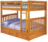 Honey Mission Full over Full Bunk Bed | Discovery World Furniture | DWF2115-CL