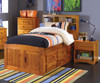 Ridgeline Twin Size  Bookcase Captains Bed   25066   DWF2120-CL