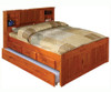 Ridgeline Full Size  Bookcase Trundle Captains Bed | Discovery World Furniture | DWF2121-3DRT