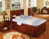 Acadia Twin Size  Bookcase Captains Bed | Discovery World Furniture | DWF2820
