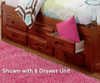 Merlot Twin Size Bookcase Captain's Day Bed | 25109 | DWF2822