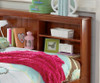 Merlot Twin Size Bookcase Captain's Day Bed | Discovery World Furniture | DWF2822