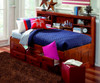 Merlot Twin Size Bookcase Captain's Day Bed