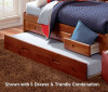 Merlot Twin Size Bookcase Captain's Day Bed with Trundle | 25110 | DWF2822-3DRTR