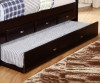 Espresso Twin Size Bookcase Captain's Day Bed with Trundle   Discovery World Furniture   DWF2922-3DRTR