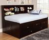 Espresso Twin Size Bookcase Captain's Day Bed | 25137 | DWF2922-6