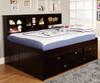 Espresso Full Size Bookcase Captain's Day Bed | 25141 | DWF2923-6