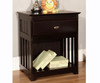Espresso Full Size Bookcase Captain's Day Bed | Discovery World Furniture | DWF2923-6