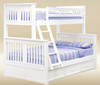 Boston Twin over Full Bunk Bed White | JAY Furniture | GT-TF3368W