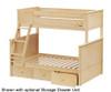 Jackpot Twin over Full Bunk Bed Natural   Jackpot Kids Furniture   JACKPOT-710100TF-001
