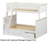 Jackpot Twin over Full Bunk Bed White | 25270 | JACKPOT-710100TF-002