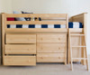 Jackpot Low Loft Bed with Dressers Natural | Jackpot Kids Furniture | JACKPOT-710110-001