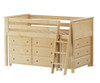 Jackpot Low Loft Bed with Dressers Natural | 25272 | JACKPOT-710110-001