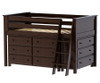 Jackpot Low Loft Bed with Dressers Cherry | Jackpot Kids Furniture | JACKPOT-710110-004