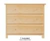 Jackpot Low Loft Bed with Dressers Cherry | 25274 | JACKPOT-710110-004