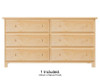 Jackpot Low Loft Bed with Dresser and Bookcase Natural | 25275 | JACKPOT-710110X-001