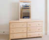 Jackpot 6 Drawer Dresser Natural | Jackpot Kids Furniture | JACKPOT-714060-001