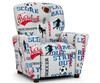 Kidz World Recliner Designer Fabric Sports | Kidz World | KW1300-SPORTS