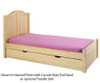 Maxtrix Twin Size Bed with Foot Panel Natural 1 | Maxtrix Furniture | MX-1150-NP