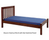 Maxtrix Twin Size Bed with Foot Panel Natural 2 | Maxtrix Furniture | MX-1150-NS