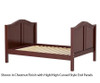 Maxtrix Full Size Bed Chestnut 2 | Maxtrix Furniture | MX-2000-CS