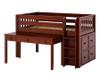 Maxtrix Long Desk w/ Tilt Top Chestnut   26020   MX-2460-C