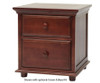 Maxtrix 2 Drawer Nightstand Natural | Maxtrix Furniture | MX-4220-N