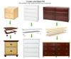 Maxtrix Narrow 4 Drawer Dresser Natural | Maxtrix Furniture | MX-4245-N