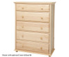 Maxtrix 5 Drawer Dresser White | Maxtrix Furniture | MX-4250-W