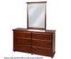 Maxtrix 6 Drawer Dresser Chestnut | 26093 | MX-4260-C