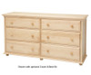 Maxtrix 6 Drawer Dresser Natural | Maxtrix Furniture | MX-4260-N