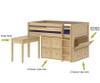 Maxtrix Stack-able Toy Chest Natural   Maxtrix Furniture   MX-4300-N