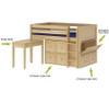 Maxtrix 2 Drawer Cube Unit Natural | Maxtrix Furniture | MX-4320-N