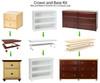 Maxtrix 6 Shelf Bookcase Natural | Maxtrix Furniture | MX-4760-N