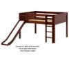 Maxtrix AMAZING Low Loft Bed with Slide Full Size White | Maxtrix Furniture | MX-AMAZING-WX