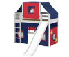 Maxtrix AWESOME Mid Loft Bed with Tent & Slide Twin Size Chestnut | 26135 | MX-AWESOME21-CX