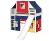 Maxtrix AWESOME Mid Loft Bed with Tent & Slide Twin Size Chestnut 1 | 26143 | MX-AWESOME29-CX
