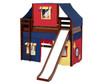 Maxtrix AWESOME Mid Loft Bed with Tent & Slide Twin Size White 5 | Maxtrix Furniture | MX-AWESOME29-WX