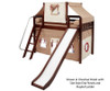 Maxtrix AWESOME Mid Loft Bed with Tent & Slide Twin Size White 6 | 26146 | MX-AWESOME30-WX