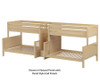 Maxtrix BIGBANG Quadruple Bunk Bed with Stairs Twin over Full Size White | 26153 | MX-BIGBANG-WX