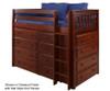 Maxtrix BLING Mid Loft Bed w/ Dressers Twin Size Natural | Maxtrix Furniture | MX-BLING-NX