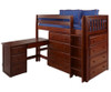 Maxtrix BLING Mid Loft Bed w/ Dressers and Desk Twin Size Chestnut | Maxtrix Furniture | MX-BLING1L-CX